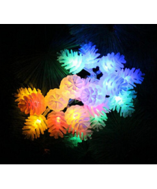 Svítící řetěz - šišky