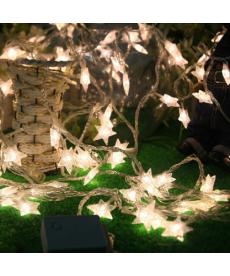 Vánoční dekorační řetěz s hvězdami