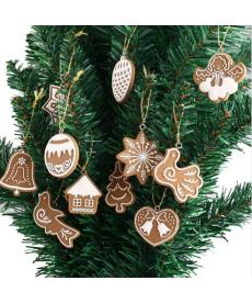 Sada umělých perníčků na vánoční stromeček